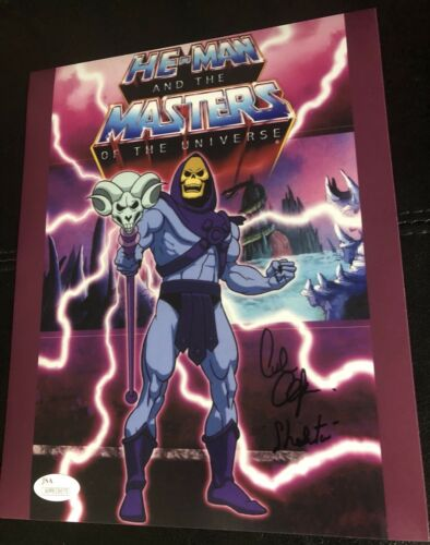 Alan Oppenheimer Skeletor Inscribed Masters Of The Universe Autographed JSA 8x10