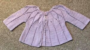 Gymboree Snappy Dresser Lavender Sweater Infant Baby Girl 6-12m EUC
