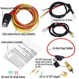 185/165 DUAL ELECTRIC COOLING FAN WIRING HARNESS INSTALL THERMOSTAT on model a exhaust, model a ford ignition wiring, model a turn signal, model a instrument cluster, model a stone guard, model a solenoid, model a fuel line, model a supercharger, model a fuel rail, model a flywheel, model a air cleaner, model a taillights, model a trunk latch, model a headlight wiring, model a headlight lens, model a air filter, model a intake, model a bellhousing, model a wiper, model a plug wires,