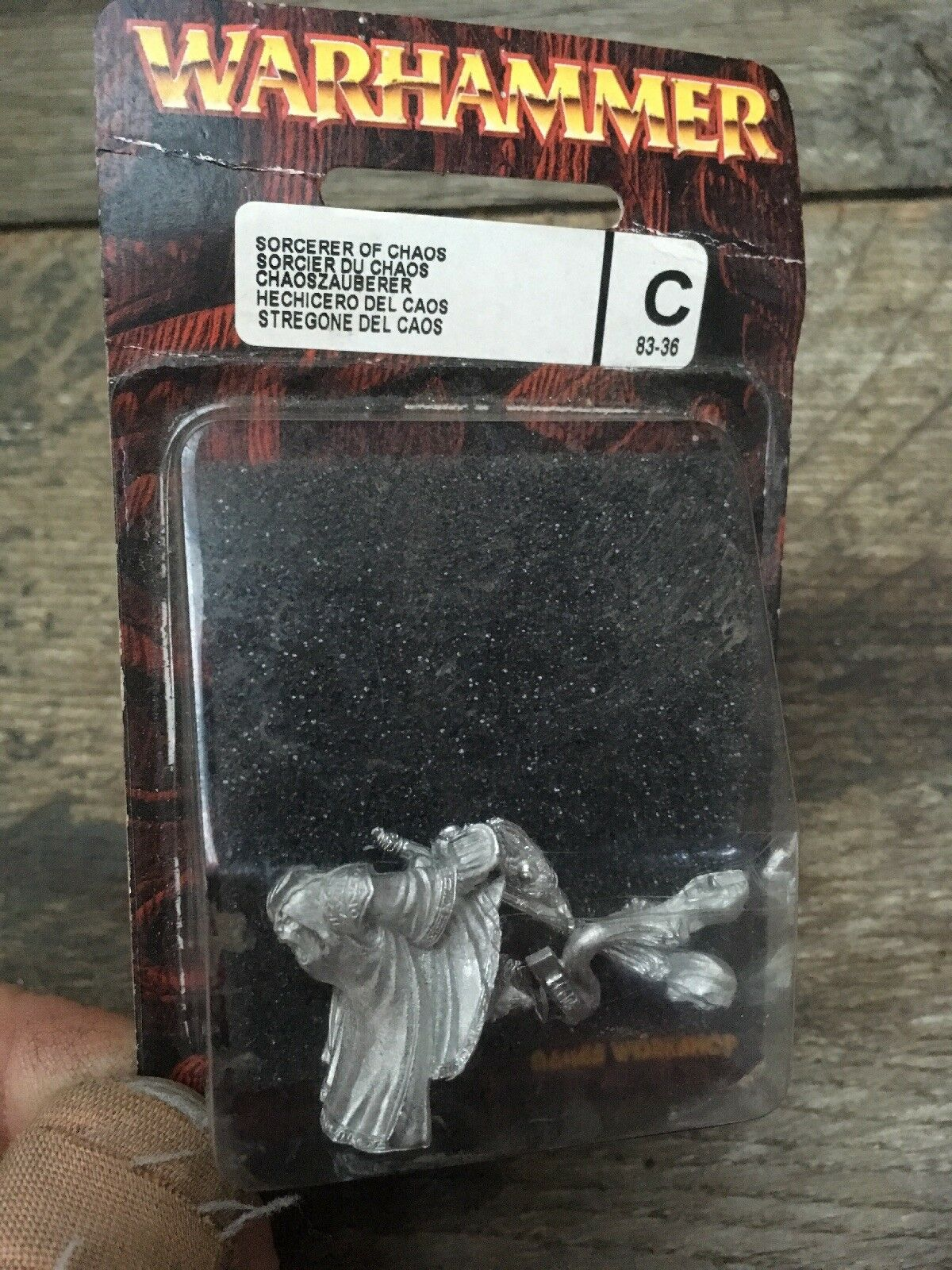 Warhammer Sorcier du Chaos métal Blister New Games Workshop Citadel personnel