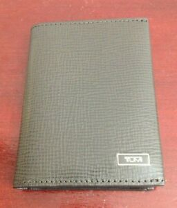 TUMI-BIFOLD-MONACO-GUSSETED-TAUPE-LEATHER-UNISEX-CARD-ID-WALLET-MINT-CONDITION