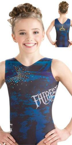 NWT GK Elite Disney Descendants Evie Blue Gymnastics Leotard Child /& Adult Sizes