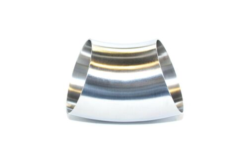 """3.5/"""" 45 degree stainless steel bend exhaust tube 16g"""