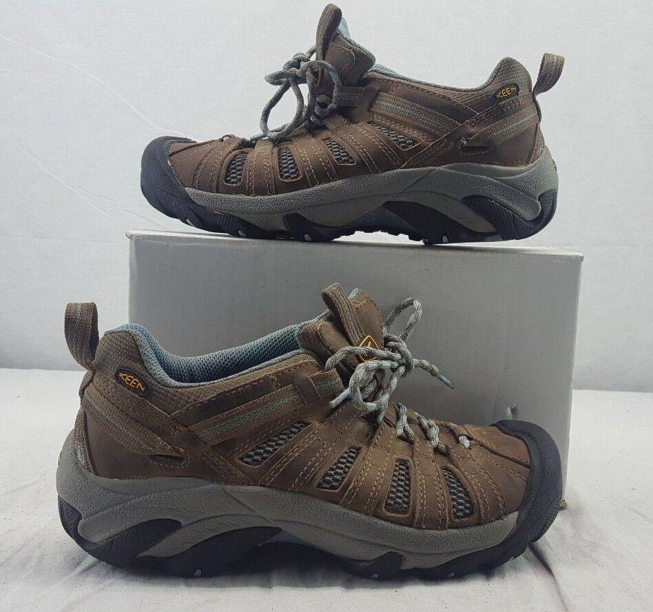 KEEN 1011523 Women's Voyageur Hiking shoes Brindle Alaskan bluee size 8