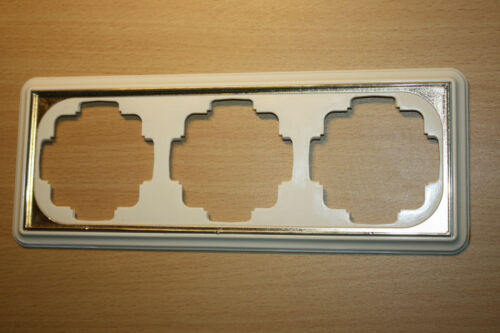 Gira TRIAS GALA 3-fach Rahmen in cremeweiss mit vergoldeter Zierkante