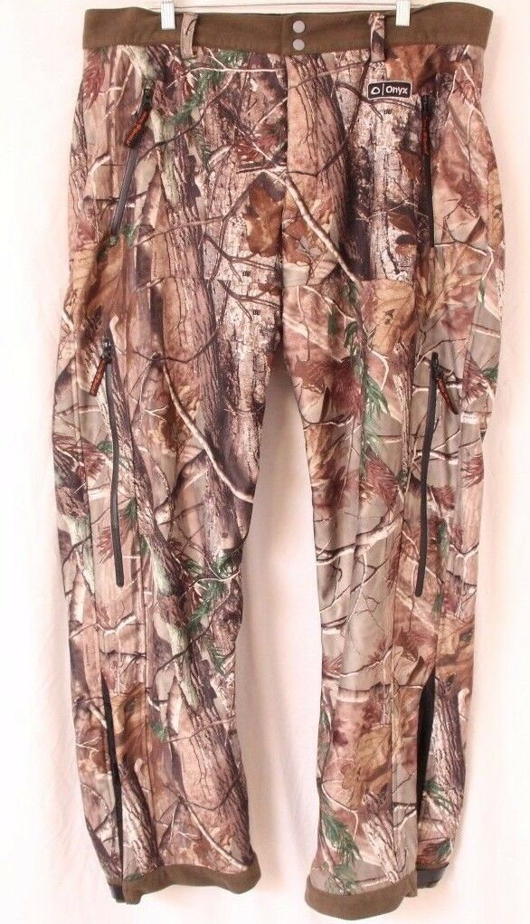 Onyx Camouflage Arctic Shield Realtree Hunting Fleece Lined Pants Men's 2XL