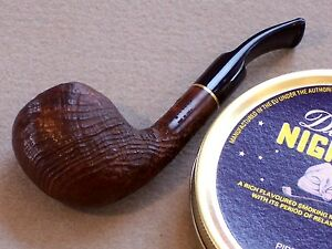 HORIZON'S NEW RIGOLETTO ITALIAN BRIAR PIPE- SHARP COMPACT SANDBLAST W RING GRAIN