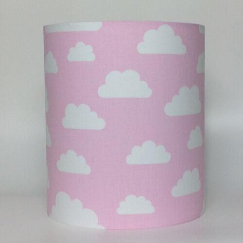 Enfants Bébés pépinière nuage lampe abat-jour bleu layette bébé rose Soft Grey