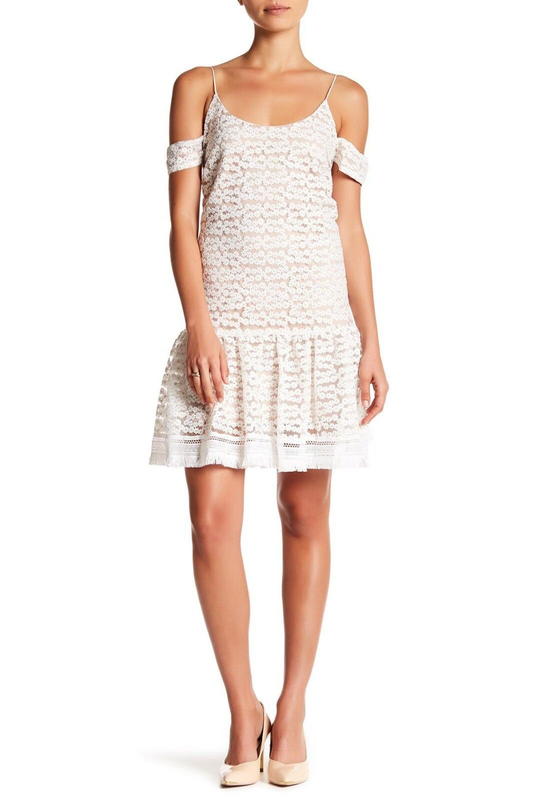 NEW Nordstrom Nicole Miller Womens Size S Floral Lace Cold Shoulder Dress NWT