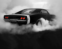 Dodge Charger 1968 Burnout American Muscle Classic Car Poster / Photography