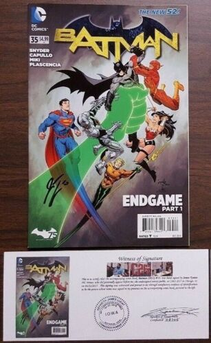 Batman Variant +Annual EACH SIGNED w// Notarized WOS New 52 U-Pick 2011 #1-49