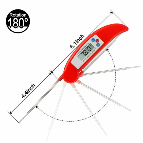 Folding Stainless Meat Thermometer BBQ Probe Digital Grill Food Cooking Kitchen