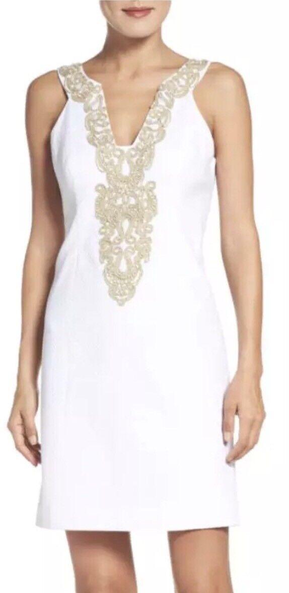 Lilly Pulitzer Suzette para mujeres Vestido Recto  blancoo Talla 6 3568  lo último