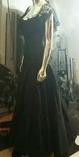 Vintage Jessica McClintock BLACK GOTHIC ELVIRA WEDDING PARTY Gown Dress  SIZE 2