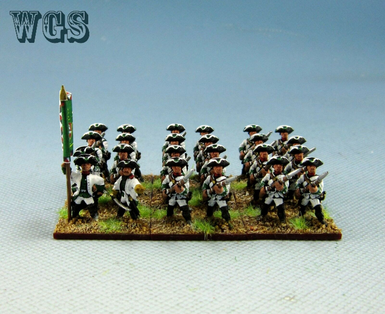 15mm SYW Seven Years War WGS Painted Austrian Musketeer Battalion AA2
