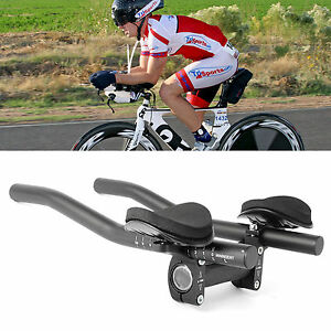 Road-Mountain-Bike-Bicycle-Alloy-Triathlon-Aero-Rest-Handle-Bar-Clip-On-Tri-Bars