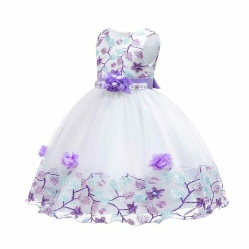 Dresses baby party tutu princess formal wedding bridesmaid dress girl flower kid