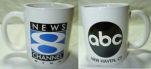 ABC NEW HAVEN CT NEWS 8 COFFEE CUP MUG SPORTS WEATHER DRINK