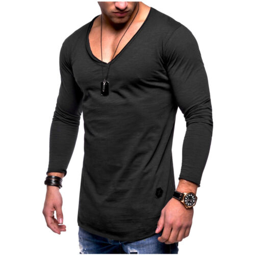 Men Hoodie Hooded Fitness Long Sleeve Sports Sweater Stylish Muscle Shirt Blouse