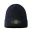 Mens Stone Island Logo Thick Warm Turnup Cap Beanie Knit Stretch Winter Ski Hat