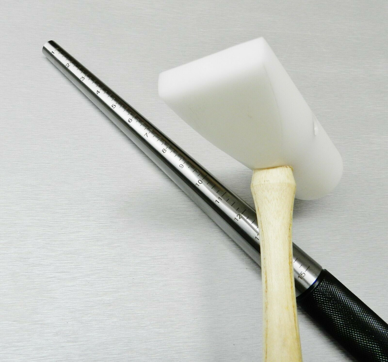 """Brass /& Steel ToolUSA 5.5/"""" Handle w// 9 Piece Brushes In Nylon 1//4/"""" Shank"""