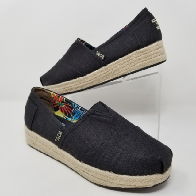 Memory Foam High Jinx Black Wedge Shoes