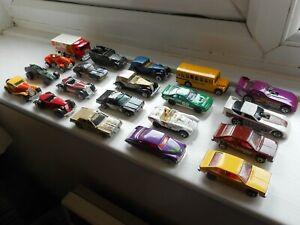 Vintage-Hot-Wheels-Trabajo-Lote-x20-coches-de-juguete-y-otros-vehiculos-podrian-90s-blackwalls-etc