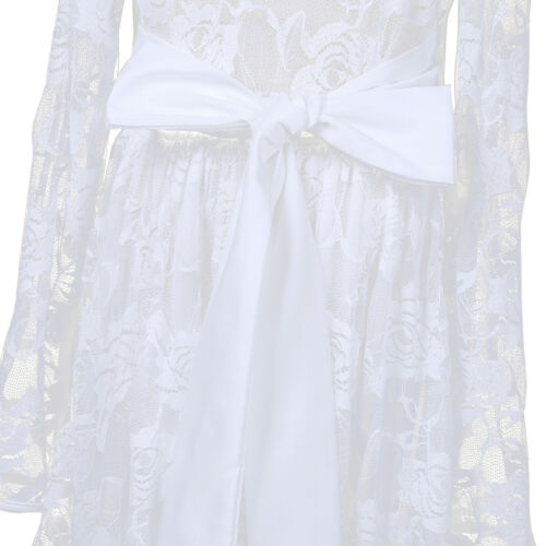 Flower Girl Dress Princess Birthday Party Wedding Pageant Christening Lace Dress