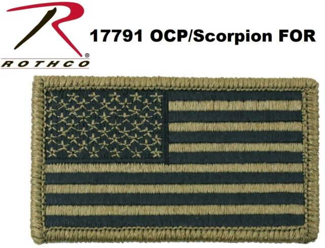 American Flag Patch Military OCP Hook And Loop Patch Rothco 17791