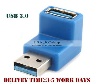 New 90 Degree Right Angle Usb 3 0 A Male To Female