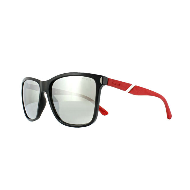 f6c391a41f Police Sunglasses SPL529 Speed 10 Z42X Shiny Black Red Silver Mirror