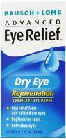 5 Pk Bausch & Lomb Advanced Eye Relief Rejuvenation Lubricant Eye Drops .50oz Ea on sale