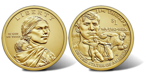 Jim Thorpe 2018-P  NATIVE AMERICAN DOLLAR COINS