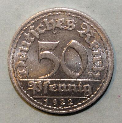 Germany 50 Pfennig 1922-F Brilliant Uncirculated Aluminum Coin