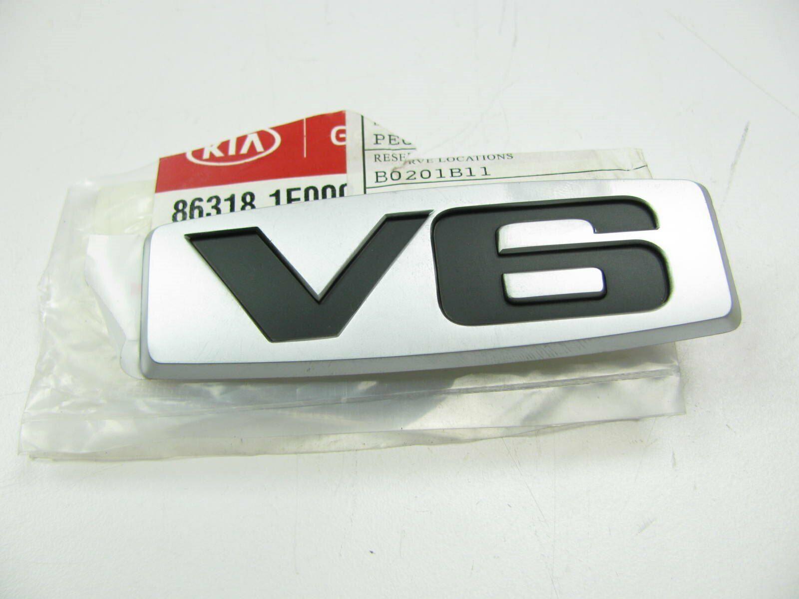 "2004-2010 OEM KIA SPORTAGE REAR HATCH EMBLEM /""V6/"""
