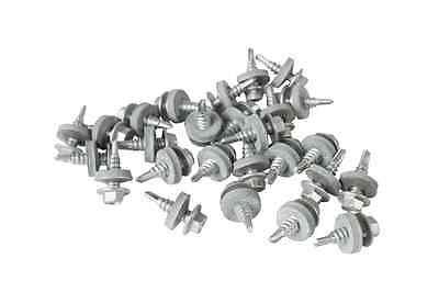 1000 x TEK STITCHING ROOFING SELF DRILL SCREWS 6.3 x 22mm HEX HEAD 16mm WASHER