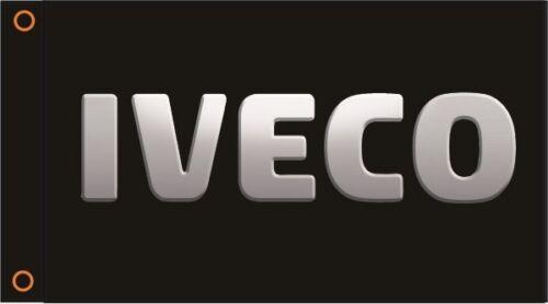 GARAGE IVECO TRUCKS FLAG CAB BANNER 90cm x 150cm BEDROOM MANCAVE WORKSHOP