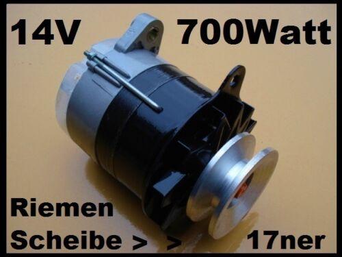 Mts Belarús 50 52 Jumz eo2621 alternador 14v//700 vatios giratoria electricidad luz máquina