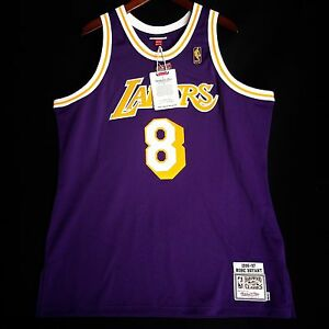 promo code 9ae2f 3ed86 Details about 100% Authentic Kobe Bryant Mitchell & Ness NBA Lakers 96 97  Jersey Size 52 2XL