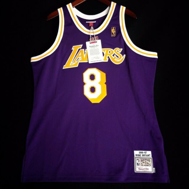 100 Authentic Kobe Bryant Mitchell   Ness NBA Lakers 96 97 Jersey Size XL 622b1a2fe