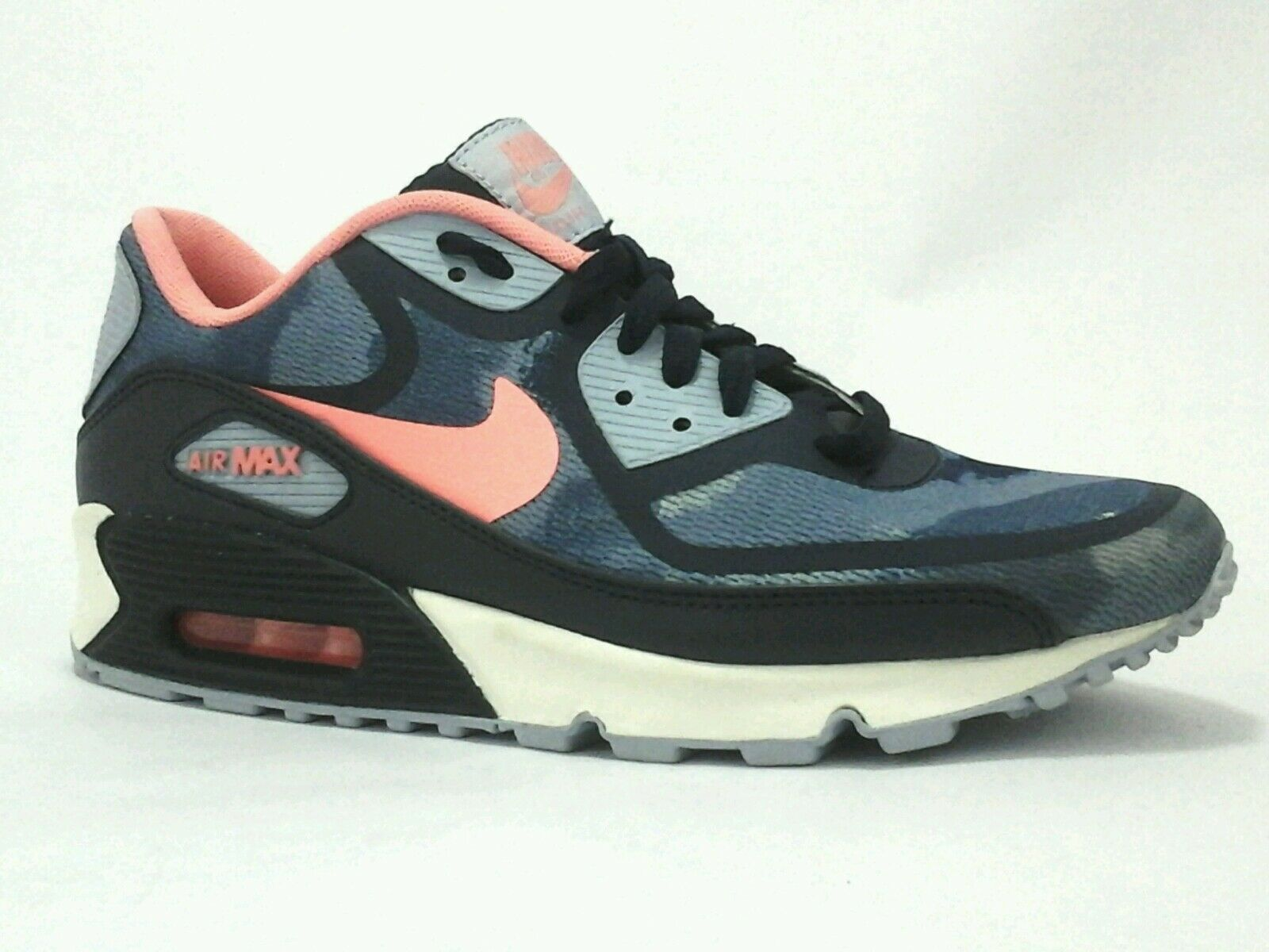 NIKE AIR MAX Camo Shoes Rare Edition Blue Sneakers Women's US 8 M