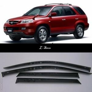 Side-Window-Visors-Sun-Guard-Vent-Deflectors-for-Acura-MDX-YD1-2001-2006