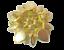 thumbnail 6 - Vintage Brooch  AB Rhinestone Yellow Iridescent Molded Glass Flower Gold Tone