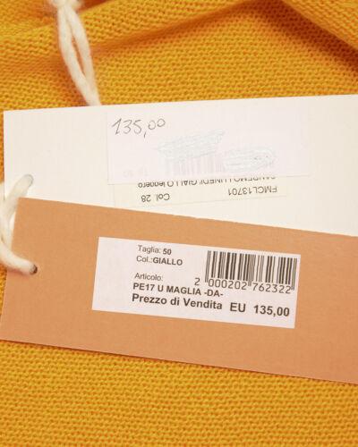 In 28 Uomo Fmcl13701 Daniele Made Maglia Italy Alessandrini Giallo Sweater x4nIZTwqCa