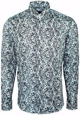 425 PAISLEY DESIGN CASUAL MENS SHIRT 60s-PARTY DRESS MULTI COLOUR SHIRT-£19.99