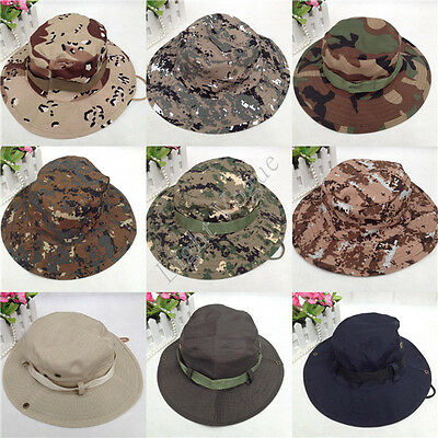 NEW Mens Bucket Boonie Hunting Fishing Outdoor Cap Canvas Military Sun Hat 091