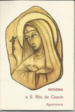 87749 LIBRICINO RELIGIOSO NOVENA A SANTA RITA DA CASCIA AGOSTINIANA
