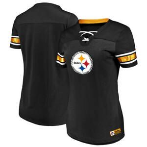 46152a1a2 La foto se está cargando Para-Mujer-Majestic-NFL-Pittsburgh-Steelers -Con-Cordones-