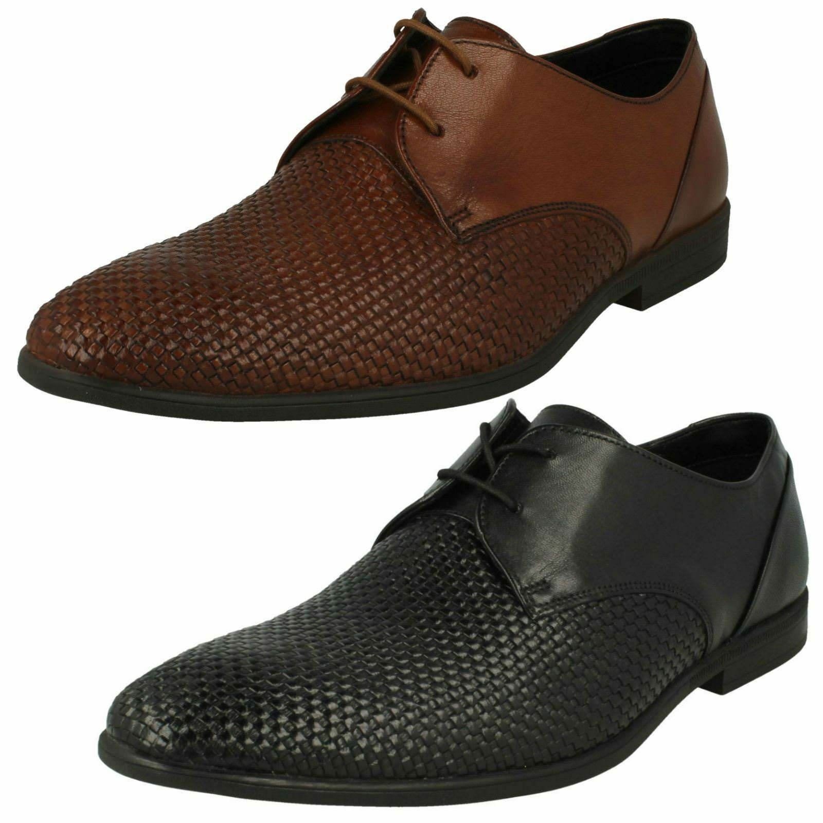 Clarks Bampton Gewebt Stylisch Schnürer Smart Schuhe