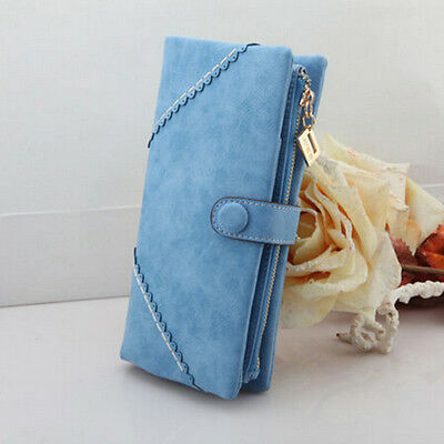 Wholesale Women Fashion Leather Wallet Button Clutch Purse Lady Long Handbag Bag